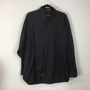 Robert Talbott mens black dress shirt XL